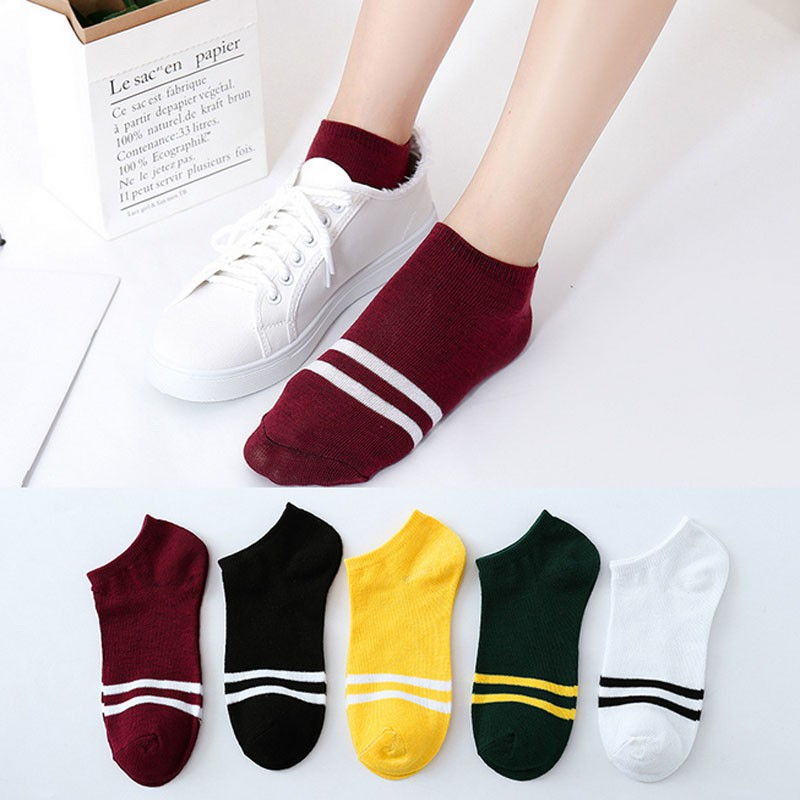 Women's Boat Colored Shallow Socks, Assorted Colors