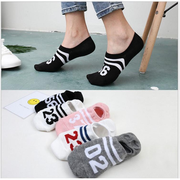 Women men  number  Ankle Socks