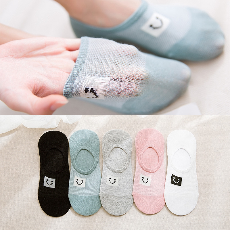 fashion Soft Mesh breathable Low Cut Cotton Ankle Socks