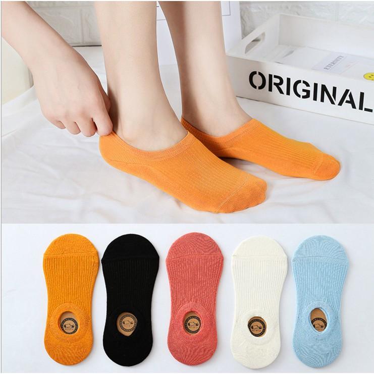 Cotton Boat Non-Slip Casual Womens Low Cut Socks