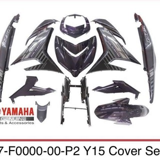 Coverset Yamaha Y15zr Purple 1st Model 100 Original Hly