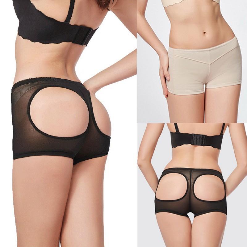 Women Shapewear Body Shaper Briefs Push Up Pants Booty Lifter Butt Enhance Pants