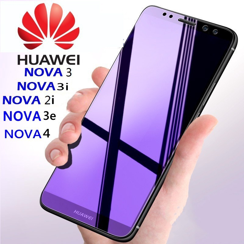HuaWei Nova 2i/3e/3/3i/4 Antiblue Ray Full Tempered Glass Screen Protector