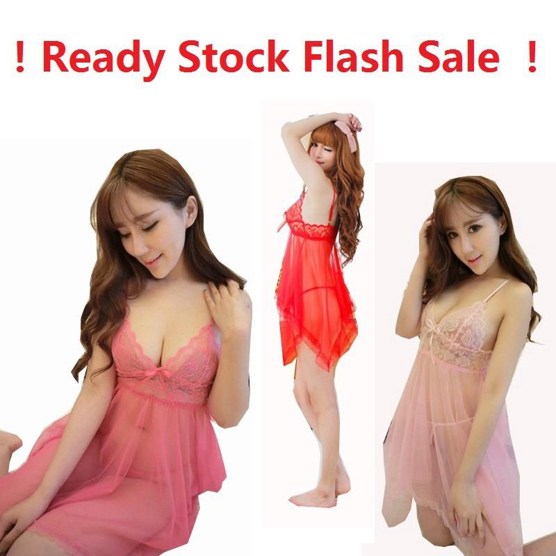 Sexy Lingerie Set Dress Women Nightwear Underwear Sleepwear + G-string