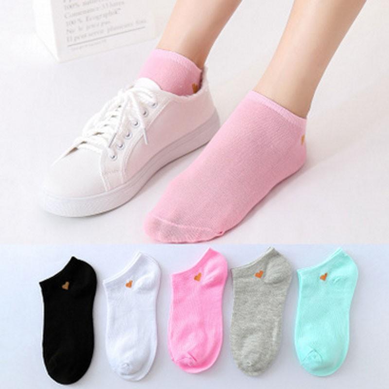women's boat colored socks