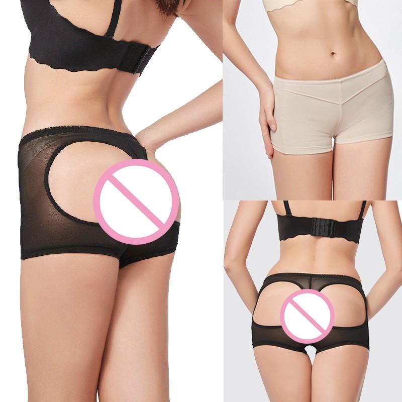Women's Sexy Hole Shorts Shapewear Slim Fit Underwear Body Shape Elastic Brief